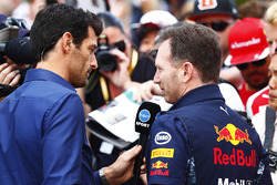 Mark Webber und Christian Horner, Red Bull Racing