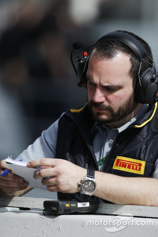Pirelli-Techniker bei der Arbeit