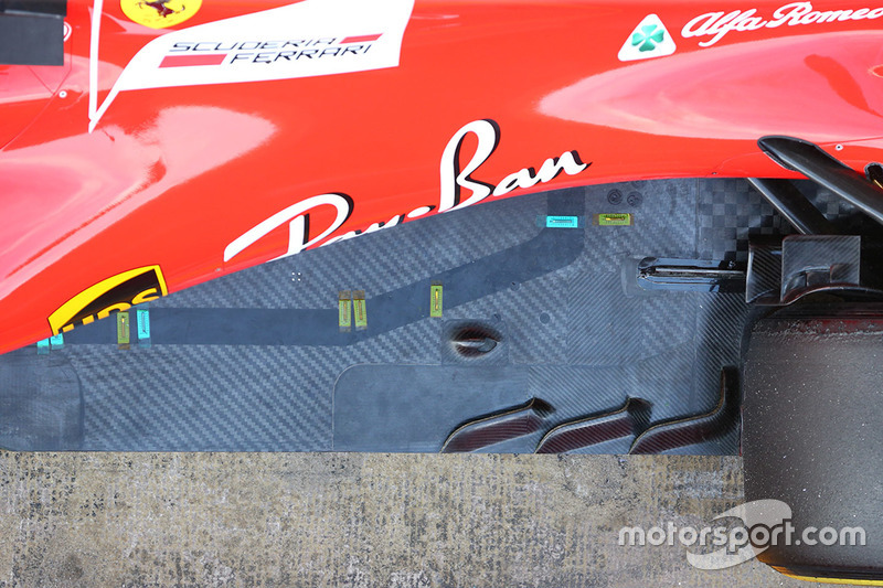 Ferrari SF70H thermo sensors detail