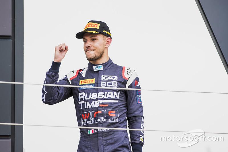 Podio: segundo lugar Luca Ghiotto, RUSSIAN TIME