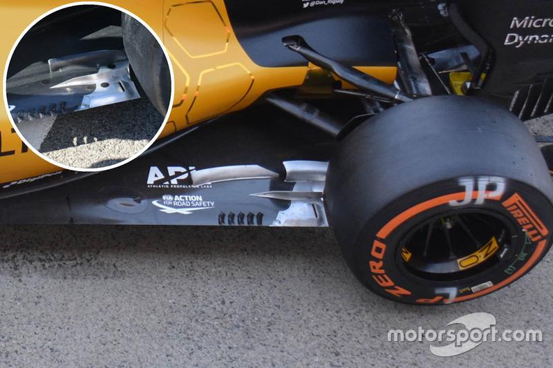 Détails du plancher de la Renault Sport F1 Team RS16