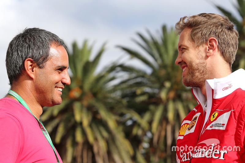Juan Pablo Montoya, and Sebastian Vettel, Scuderia Ferrari