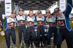 Miikka Anttila, Anders Jäger, Julien Ingrassia, Sébastien Ogier, Andreas Mikkelsen, Jari-Matti Latva
