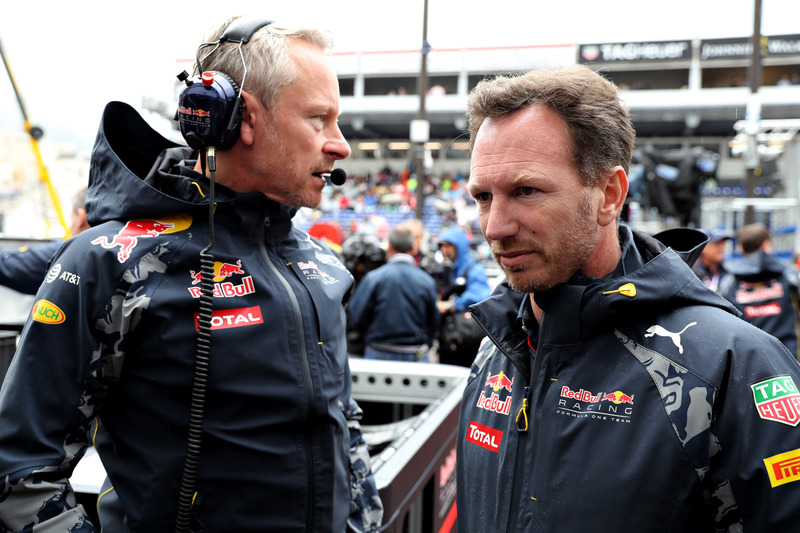 Christian Horner, Red Bull Racing jefe de equipoy  Red Bull Racing Team Manager Jonathan Wheatley