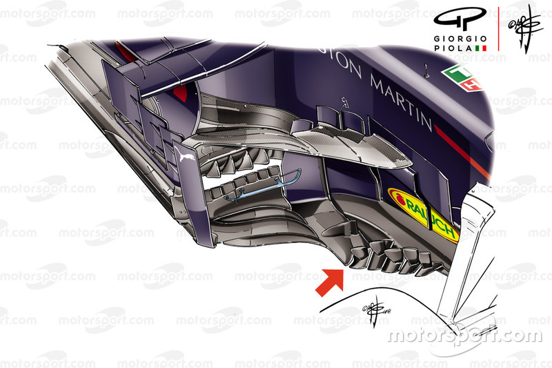 Pontons de la Red Bull Racing RB14, GP de France