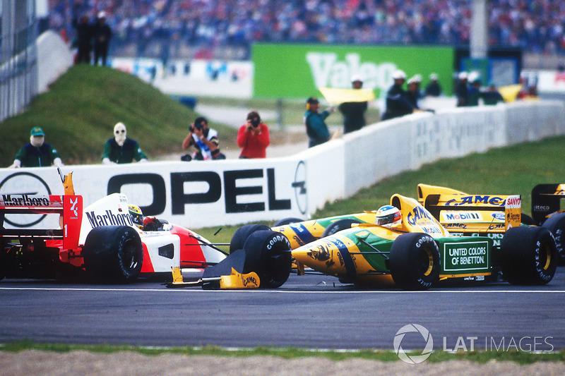 Ayrton Senna vs Michael Schumacher - GP de Alemania 1992