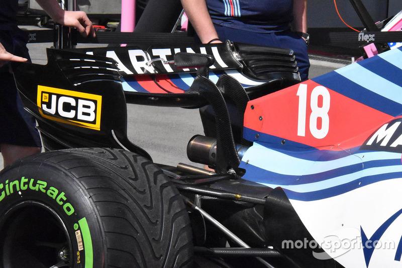 Detalle del alerón trasero del Williams FW41