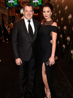 Tony Stewart y su prometida Pennelope Jimenez