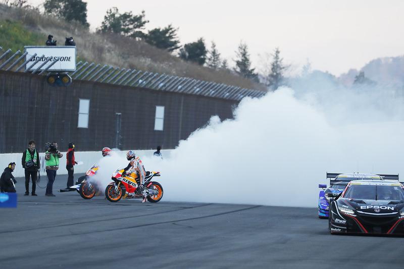 Marc Márquez, Dani Pedrosa, Repsol Honda Team en los  Honda NSX Super GT