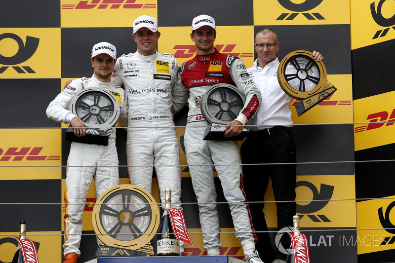 Podium: Race winner Paul Di Resta, Mercedes-AMG Team HWA, second place Lucas Auer, Mercedes-AMG Team