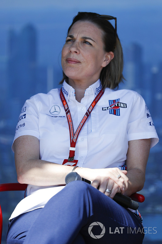 Claire Williams, Deputy Team Principal, Williams Martini Racing, on stage