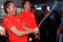 McLaren team members celebrates the World Championship for Lewis Hamilton, McLaren