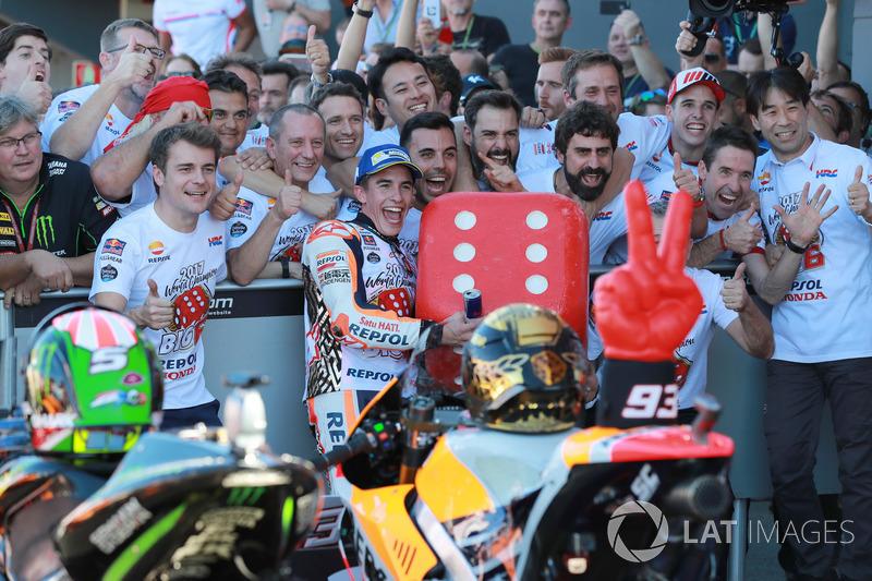 Marc Márquez, Repsol Honda Team en Parc Ferme