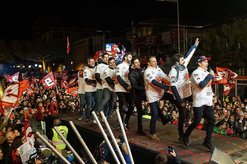 Marc Marquez championship celebration