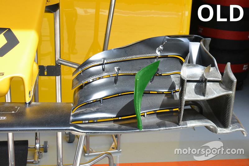 Renault Sport F1 Team, alter Frontflügel, Detail
