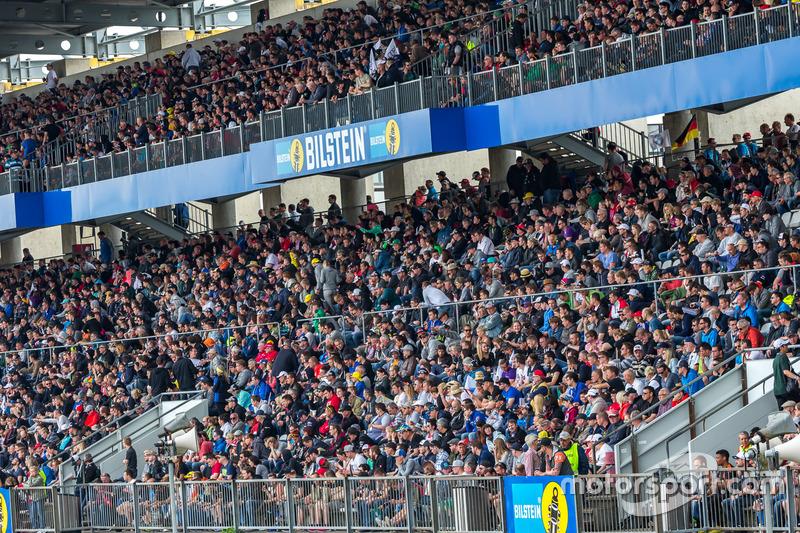 Spectators in the grandstand