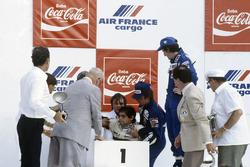 Nelson Piquet, Brabham, kollabiert vor Erschöpfung