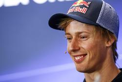 Brendon Hartley, Scuderia Toro Rosso, tijdens de persconferentie