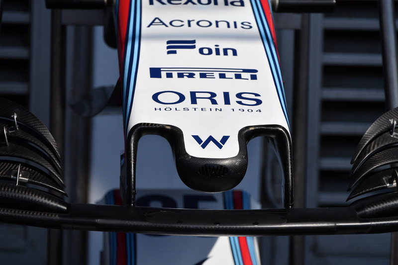 Williams FW41 nose detail