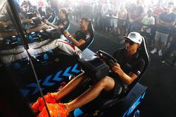 Mitch Evans, Jaguar Racing, Jose Maria Lopez, Dragon Racing, at the eRace