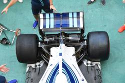Williams FW40 detalle del alerón trasero