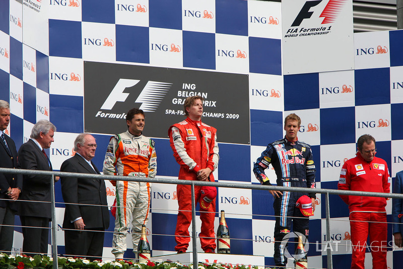 2009: 1. Кими Райкконен, 2. Джанкарло Физикелла, 3. Себастьян Феттель
