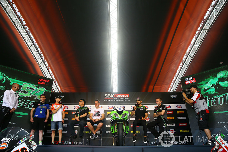 Lucas Mahias, GRT Yamaha Official WorldSSP Team, Ken Ondo, Steve Guttridge, Manuel Puccetti, Kenan Sofuoglu, Kawasaki Puccetti Racing