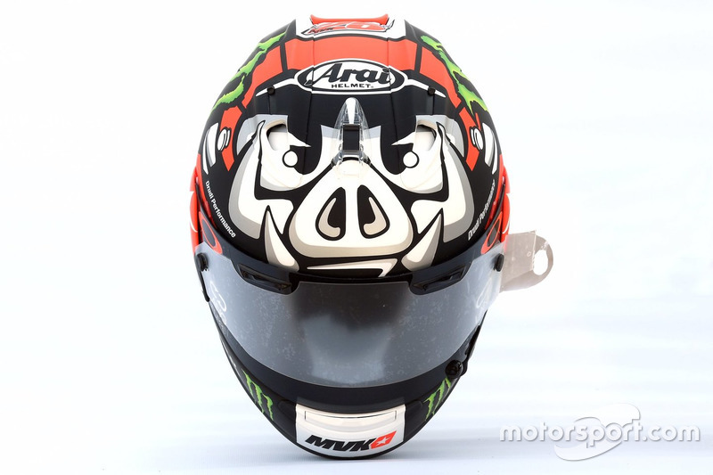 Le casque de Maverick Viñales, Yamaha Factory Racing