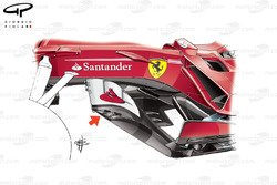 Ferrari SF70H new bargeboards