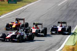 Robert Visoiu, Campos Racing leads Santino Ferrucci, Trident