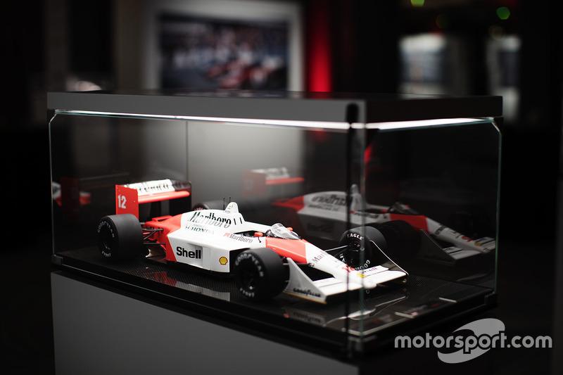Modelo del McLaren Honda de 1988 Ayrton Senna