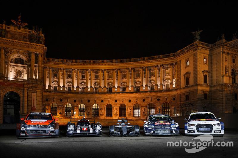 Citroën C-Elysee WTCC, Citroën World Touring Car team, Porsche 919 Hybrid, Porsche Team, Mercedes AMG F1 W07 Hybrid, Volkswagen Polo WRC, Volkswagen Motorsport, Audi S1, EKS RX