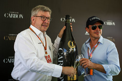 Ross Brawn, Formula One Managing Director of Motorsports and Alex Mea, Carbon Champagne