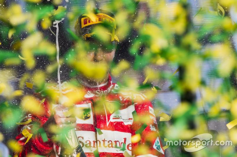 Sebastian Vettel, Ferrari celebra su victoria