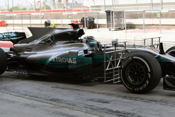 Valtteri Bottas, Mercedes AMG F1 W08 with aero sensors