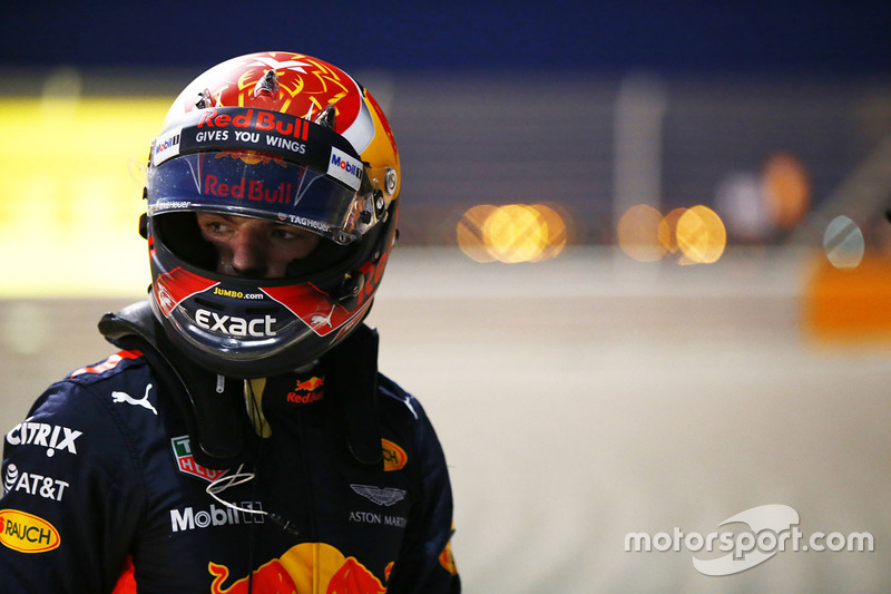 Max Verstappen, Red Bull Racing RB13, abandonne