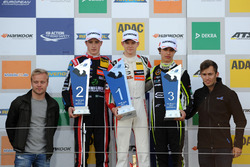Podium: Race winner Callum Ilott, Prema Powerteam, Dallara F317 - Mercedes-Benz, second place Joel Eriksson, Motopark, Dallara F317 - Volkswagen, third place Lando Norris, Carlin, Dallara F317 - Volkswagen with Felix Rosenqvist and  Gustavo Menezes