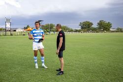 Rugby player Juan Martín Hernández and Stéphane Sarrazin, Venturi
