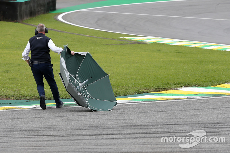 Umbrella on track
