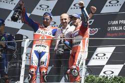 Podio: Danilo Petrucci, Pramac Racing, Domenicali, Andrea Dovizioso, Ducati Team