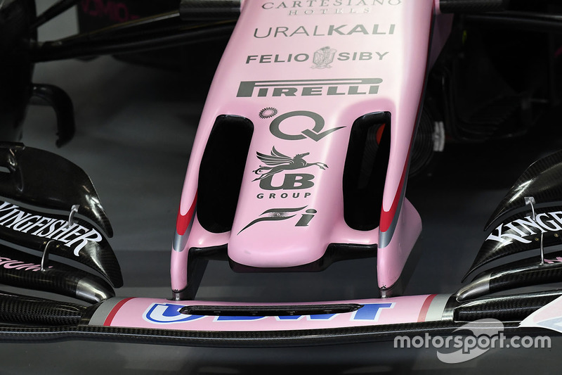 Force India VJM10, Nase, Detail