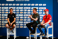 Jérôme d'Ambrosio, Dragon Racing, Adam Carroll, Jaguar Racing, and Felix Rosenqvist, Mahindra Racing, in the press conference
