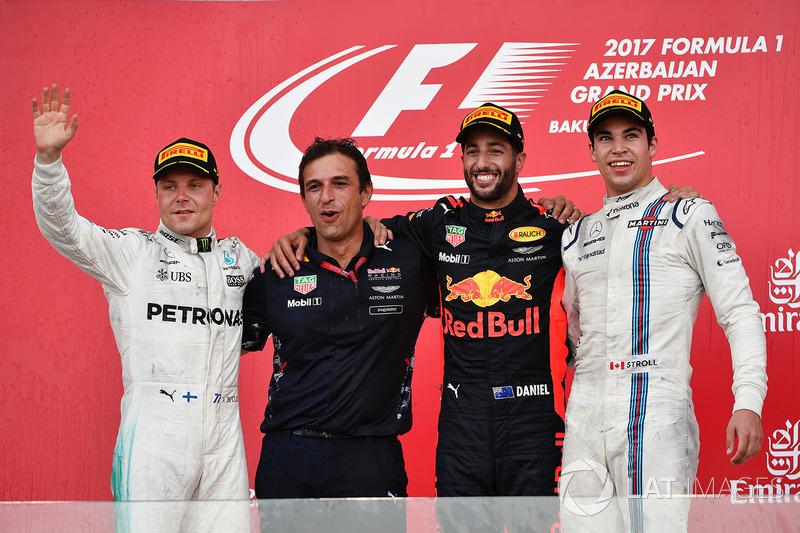 Azerbaycan GP - Kazanan Daniel Ricciardo, 2. Valtteri Bottas, 3. Lance Stroll