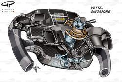 Ferrari SF70H, back view of Sebastian Vettel's steering wheel