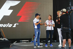 Felipe Massa, Williams, Claire Williams, Deputy Team Principal, Williams, on stage