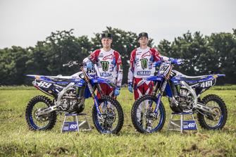 Jeremy Van Horebeek y Romain Febvre, Yamaha Factory MXGP Team con una decoración especial