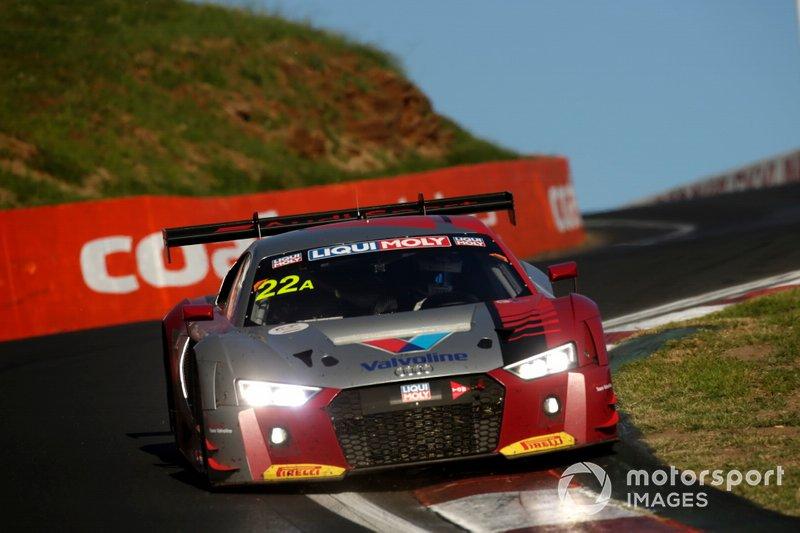 DNF: #22 Audi Sport Team Valvoline Audi R8 LMS: Kelvin Van der Linde, Garth Tander, Frederic Vervisch