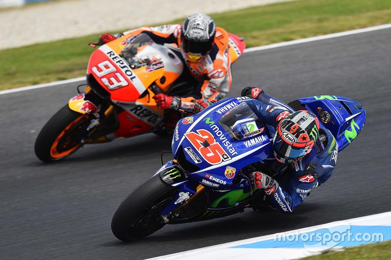 Maverick Vinales, Yamaha Factory Racing; Marc Marquez, Repsol Honda Team