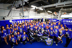 Race winners Katsuyuki Nakasuga, Alex Lowes, Michael Van Der Mark, Yamaha Factory Racing Team