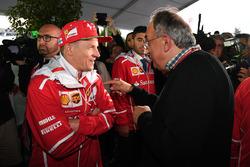 Sergio Marchionne, CEO FIAT and Kimi Raikkonen, Ferrari at Ferrari 70th Anniversary